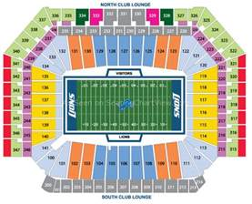 ford field detroit mi seating chart view