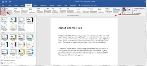 microsoft ribbon themes what are microsoft office themes documents with
