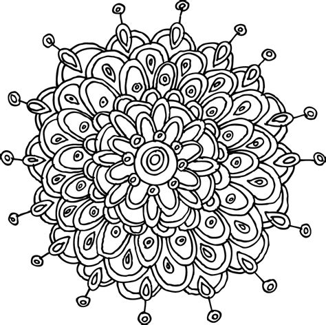 coloring pages mandala flower mandalas pattern of the day