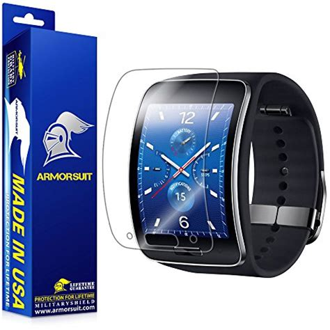 Screen Protector Clear Protective Smartwatch Samsung Gear S2 armorsuit militaryshield samsung gear s screen protector