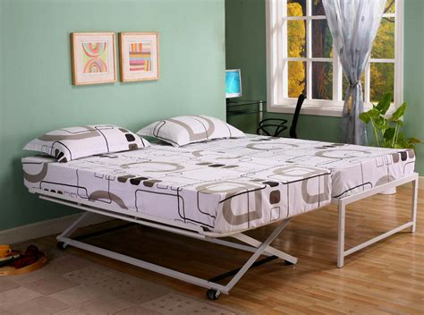 pop  trundle bed frame nice accent  playful bedroom