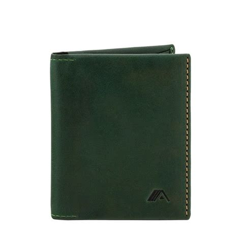 Origami Leather Wallet - a slim leather wallet origami green wallets brands