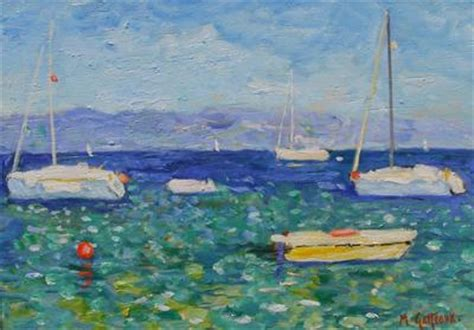 painting images boats paxos by marcel gatteaux the rowley gallery
