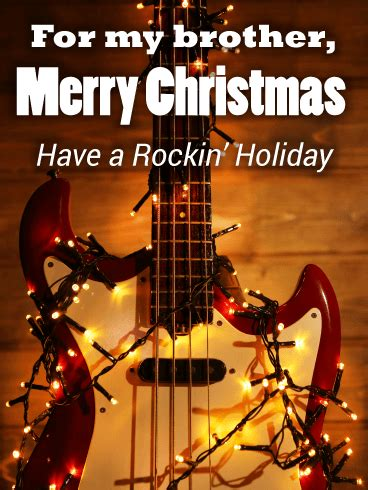 rockin christmas card  brother birthday greeting cards  davia