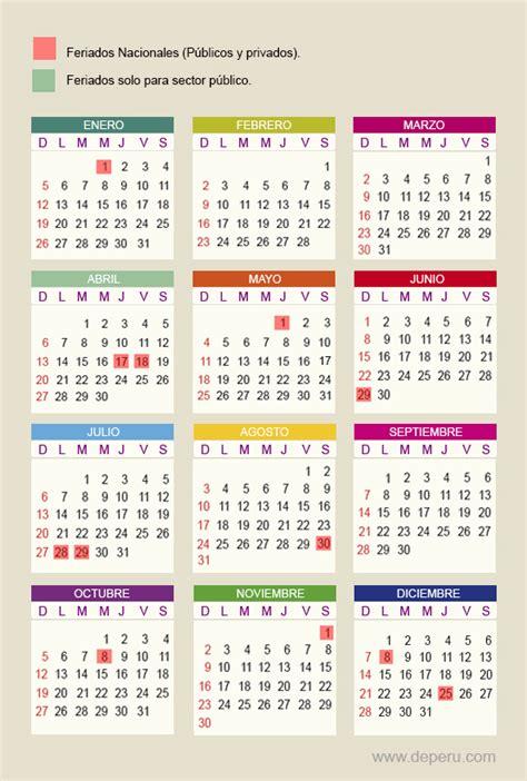 Calendario 2015 Peru Feriados 2015 Per 250