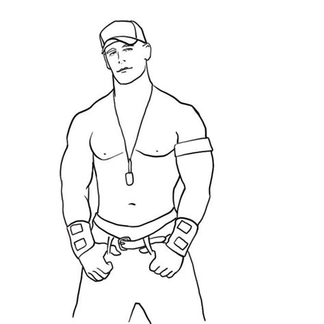 John Cena Coloring Sketch Free Download Http Cena Coloring Pages To Print