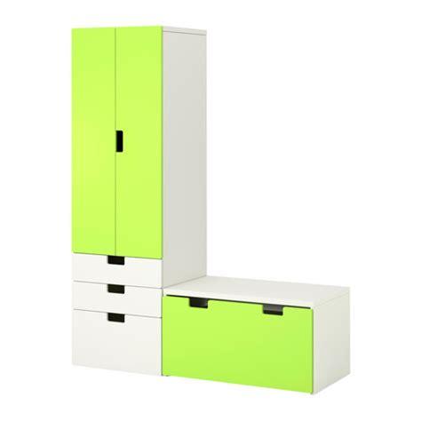 stuva bench stuva storage combination with bench white green