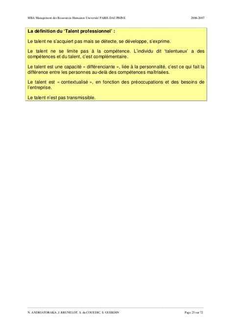 Des Managers Des Vrais Pas Des Mba by Du Management Des Competences Au Management Des Talents