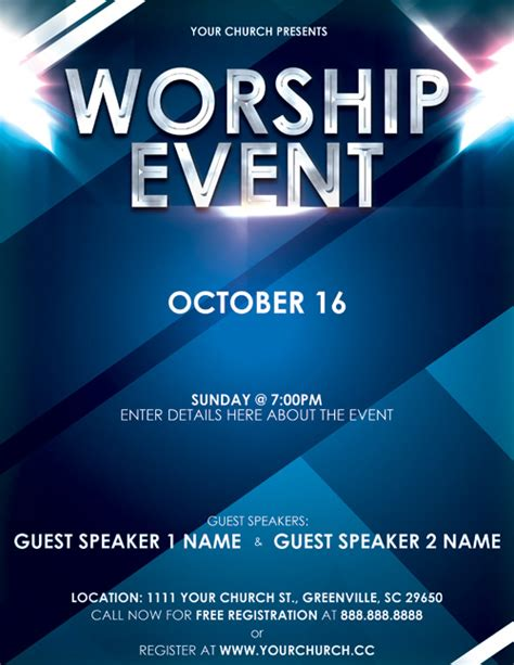 free event poster template image event flyer templates