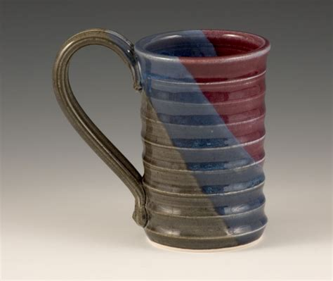 Handcrafted Ceramics - handmade mug ripple mugs chocolate handcrafted