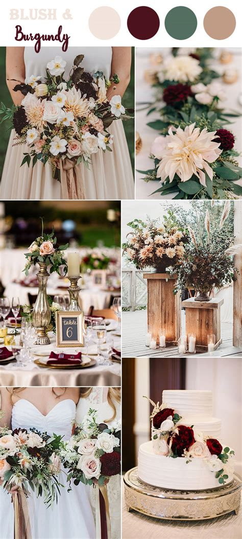 wedding colour themes pictures the 10 perfect fall wedding color combos to steal in 2017