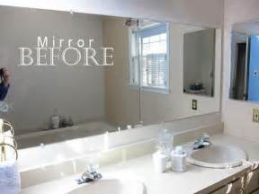 Diy Bathroom Mirror Ideas Bathroom Mirror Trim Diy Projects Design Pinterest