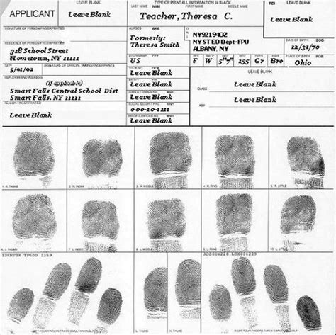 fingerprint card template fingerprint cards applicant fd 258 5 cards chickadee
