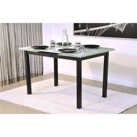 table salle a manger blanche pas cher bora table extensible 120 200cm blanche et achat