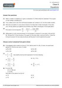 year 8 math worksheets and problems equations edugain