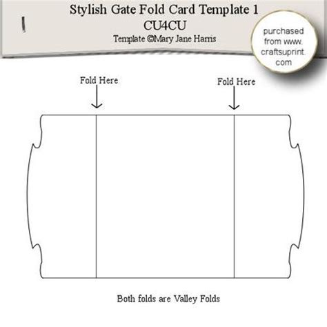 stylish gate fold card template 1 cup289339 99