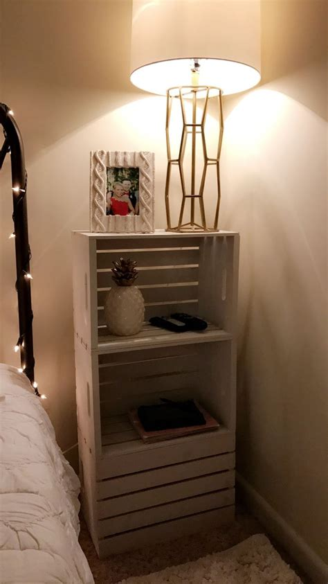 nightstand ideas best 25 crate nightstand ideas on pinterest diy