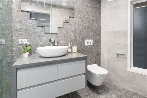 Modern Bathroom Renovation by Bathroom Renovation Brisbane Grey Modern Style Bathroom