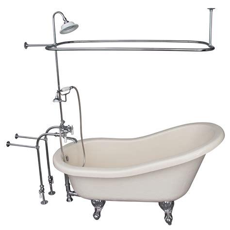 bathtub shopping shop barclay 60 in white acrylic clawfoot bathtub with