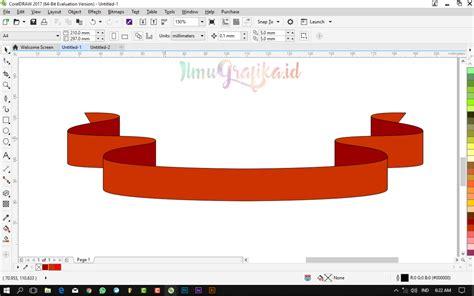 tutorial buat vektor di coreldraw tutorial coreldraw vektor membuat banner pita dengan