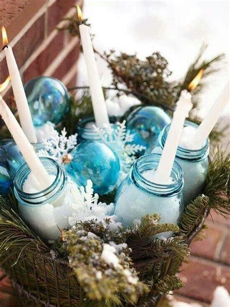 mason jar centerpiece christmas pinterest