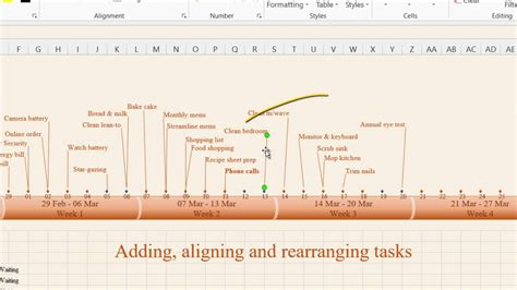 How To Create Timeline In Ms Excel 2013 1 Timeline Features Youtube How To Create A Timeline In Excel Free Timeline Template