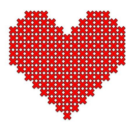 heart pattern for cross stitch cross stitch heart pattern embroidery pinterest