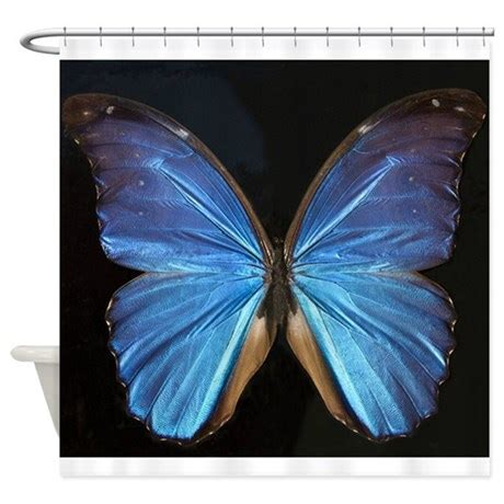 blue butterfly curtains elegant blue butterfly shower curtain by artyart2