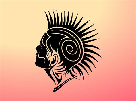 mohawk tribal tattoos mohawk vector design vector graphics