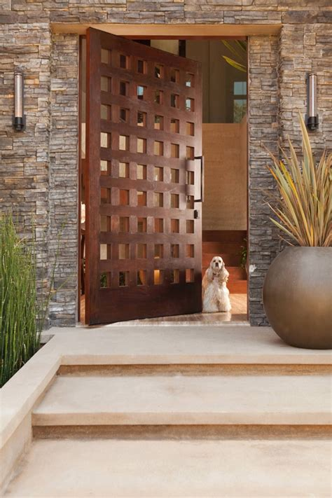 Front Door Contemporary Design 25 Modern Front Door With Wood Accents Home Design And