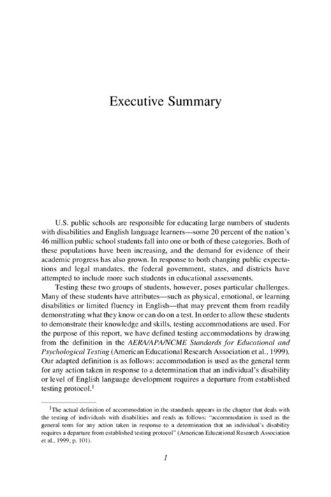 apa format executive summary template executive summary apa format exle