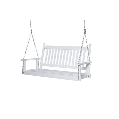 home depot porch swings 2 person white porch swing 204psw rta the home depot