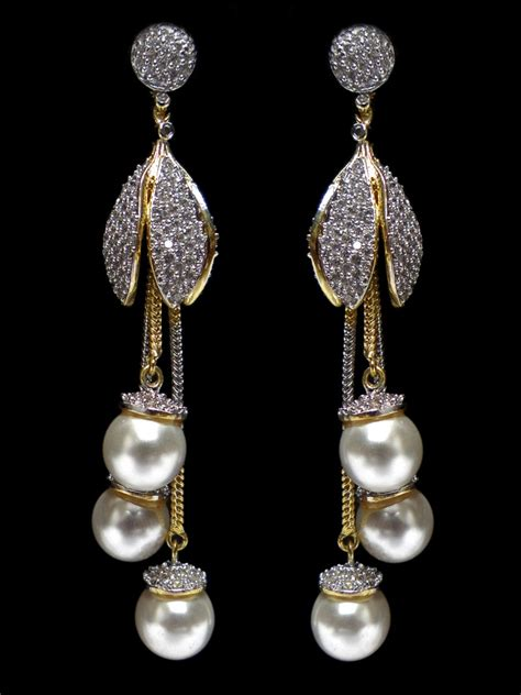 Home Decor Shopping Online by American Diamond Earring C48 Er01 Cilory Com
