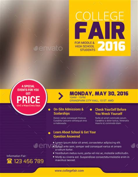 College Fair Flyer By Tholai Graphicriver College Fair Flyer Template