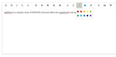 material design wysiwyg editor wysiwyg text editor for angularjs ngeditor angular script