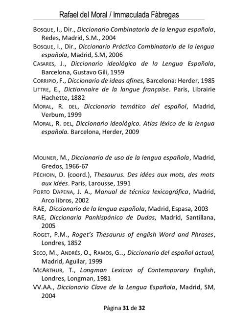 diccionario ideolgico atlas an 225 lisis del l 233 xico en los diccionarios delmoral f 224 bregas
