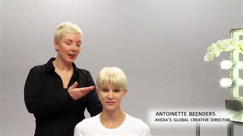 tousled look with an outward wisp for short hair aveda how to the tousled look for short hairstyles youtube