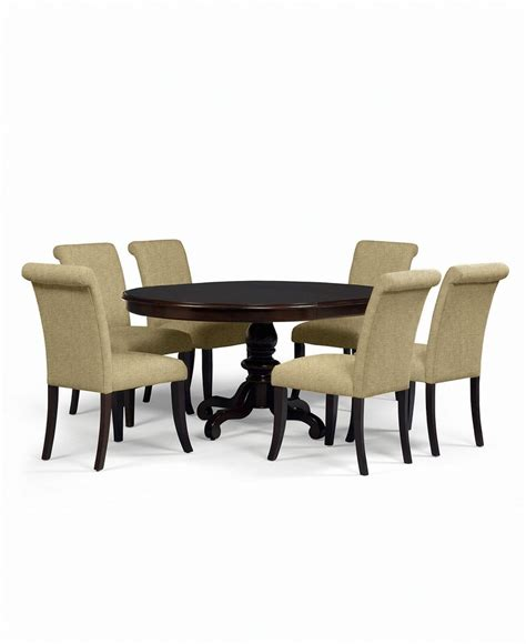 bradford dining room furniture collection bradford 7 piece round dining room furniture set with