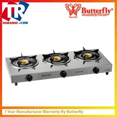 Oven Dapur Gas Butterfly butterfly 3 burner stove stainless steel panel bgc 3012