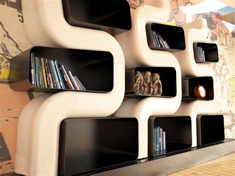 scaffali moderni libreria serp zaditaly design moderno con scaffali metallici