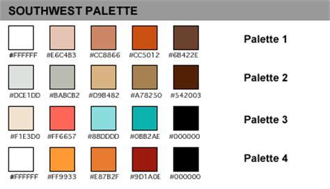 southwest color palette palettes color schemes