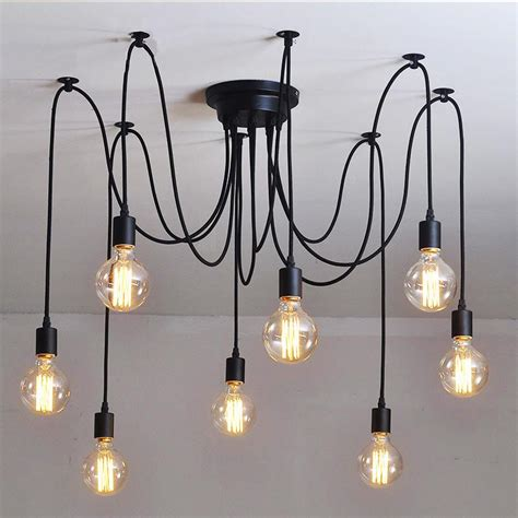 Chandelier Cable 10 Light Adjustable Cable Chandelier Black Tudo And Co Tudo And Co