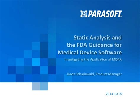 static analysis and the fda guidance for device