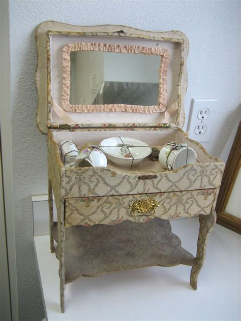 Floral Vanity by Antique All Original Floral Vanity Toilette With