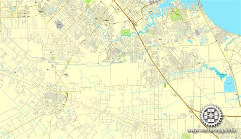 houston to jamaica map houston us printable vector city plan map 6