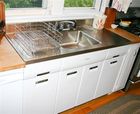 kitchen sink steel farmhouse drainboard sinks retro renovation