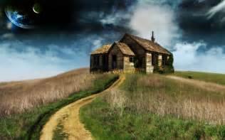 house on the hill desktop wallpaper