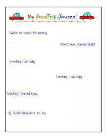 trip diary template road trip journal pages free printable peace but not