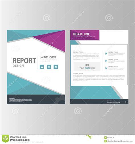 purple blue annual report presentation template elements