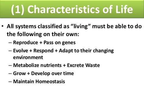 characteristics of biography biology unit 1 biochemistry characteristics of life and